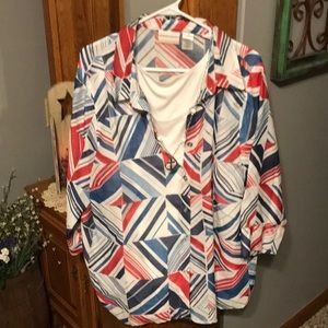 Alfred Dunner Ladies Blouse Size 20W